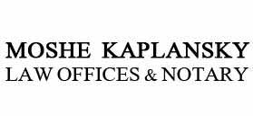 Moshe Kaplansky, Law Office & Notary