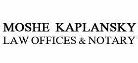 Moshe Kaplansky, Law Office & Notary