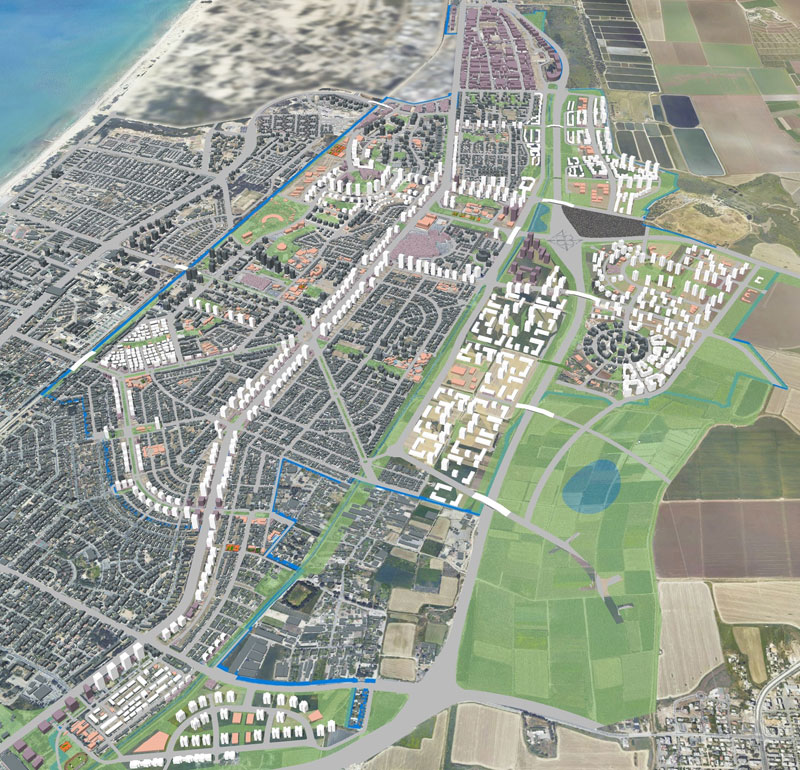 Gordon Architects and Urban Planners Ltd. - Outline plan for Kiryat Motzkin and Kiryat Bialik