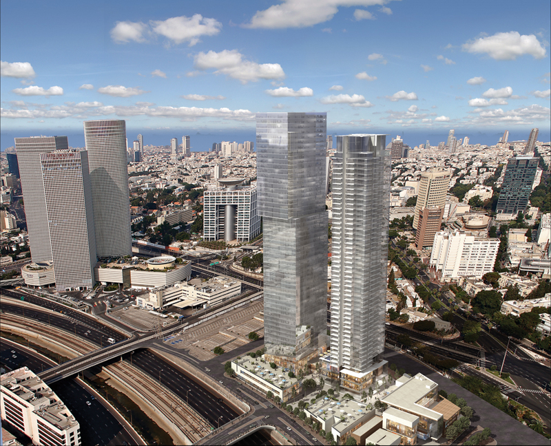 Israel Canada Ltd. - Midtown Project, Central Tel-Aviv | For illustrative purposes only