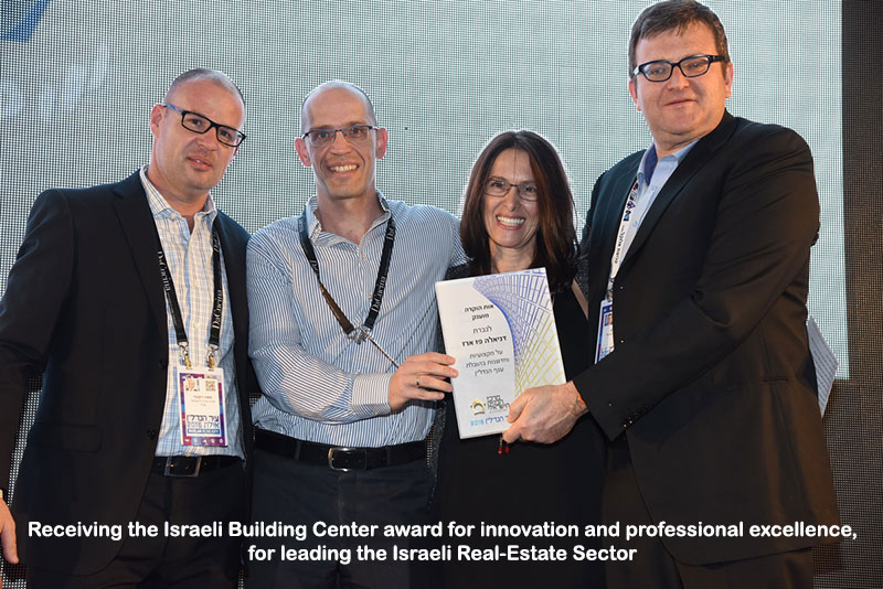 Paz Group -  Receiving the Israeli Building Center award for innovation and professional excellence, for leading the Israeli Real-Estate Sector